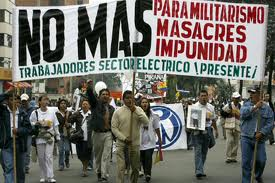 Demontsracja przeciwko represjom wobec związkowców