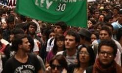 Protest studentów kolumbijskich