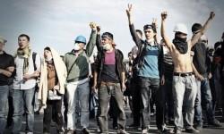 protestujący na pl. Taksim