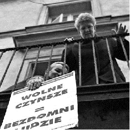 Jola at anti-eviction action
